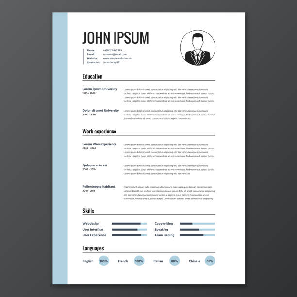 CV, resume template CV, resume template, vector graphic layout business cv templates stock illustrations