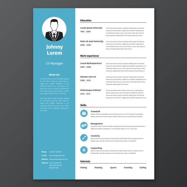 Best Business Cv Templates Illustrations, Royalty-Free ...