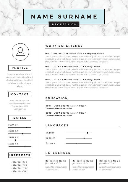 royalty free resume clip art vector images illustrations istock