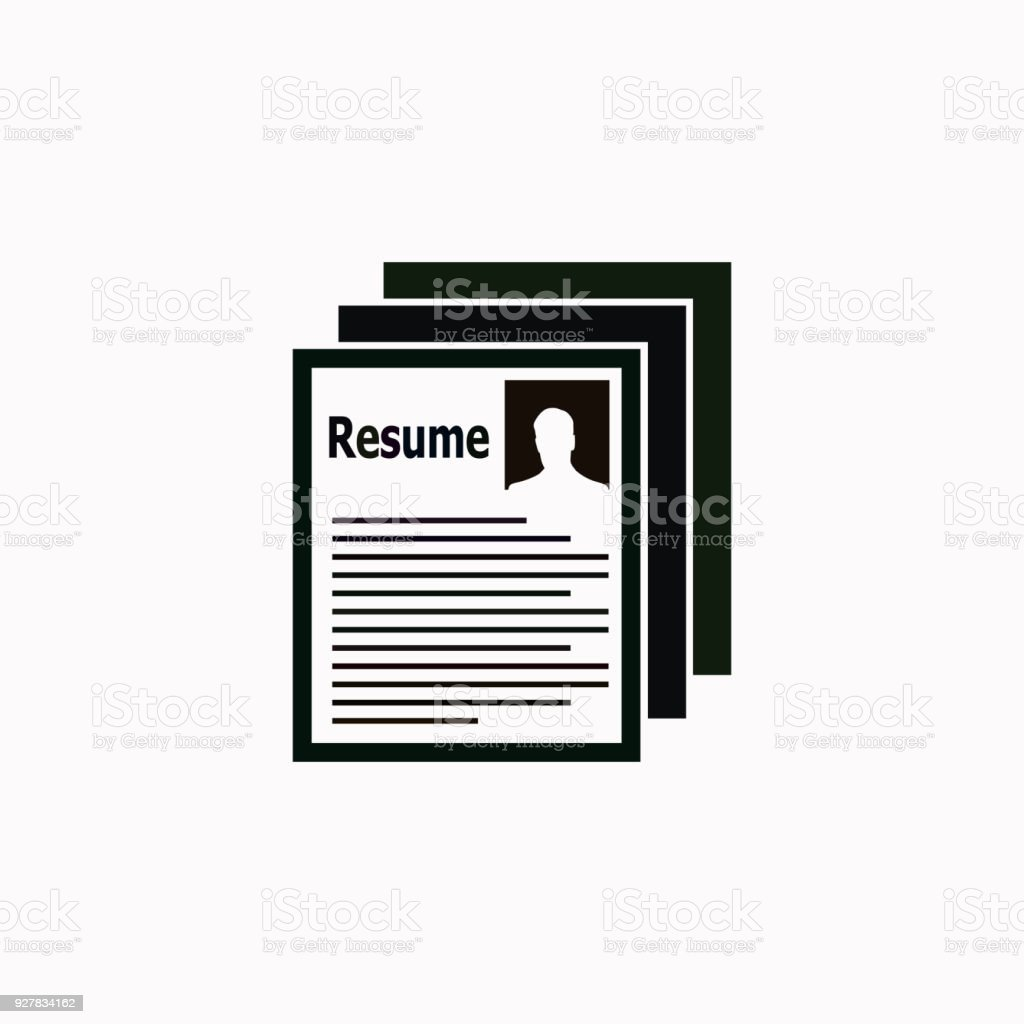 Resume Vector Icon Stock Vector Art More Images Of Adult 927834162