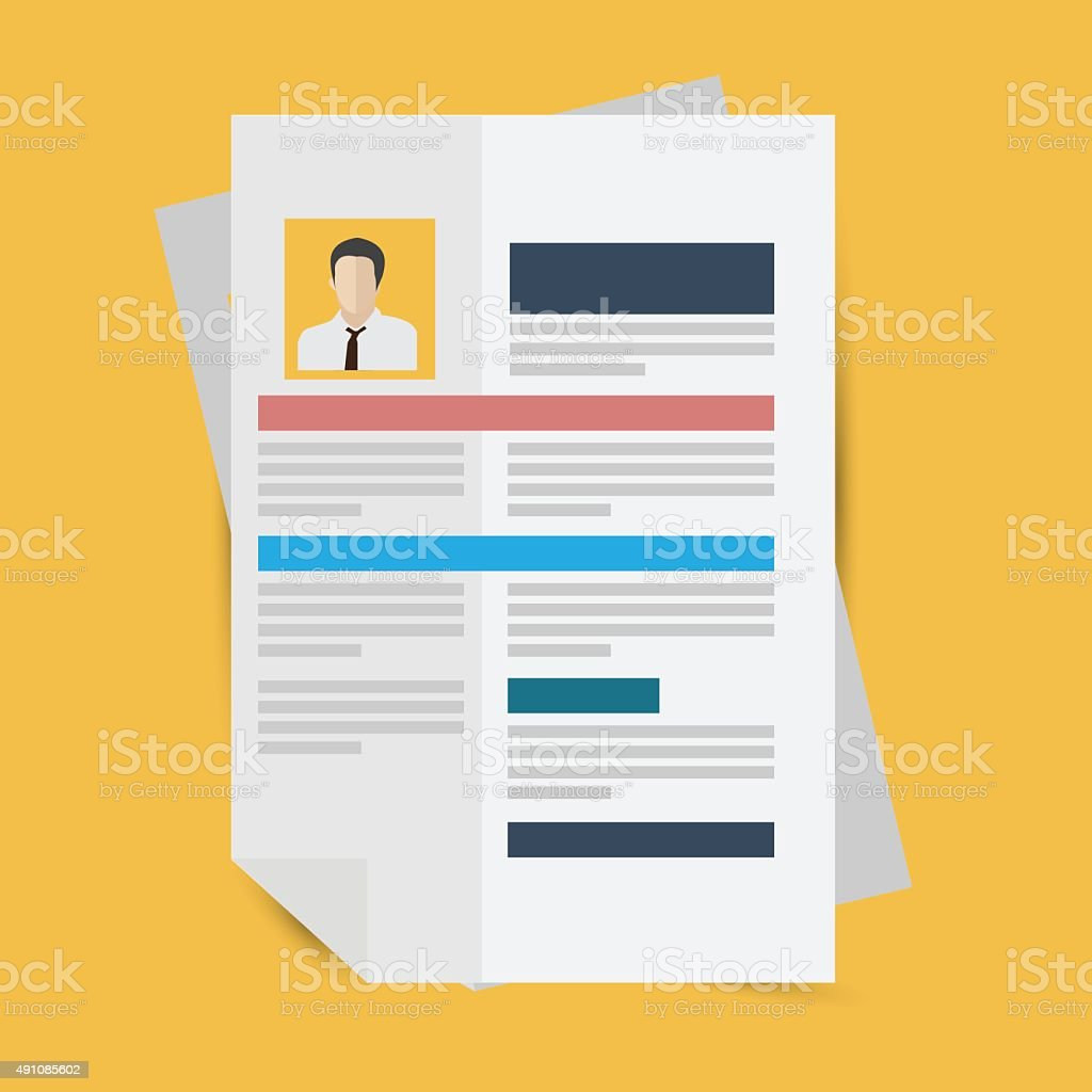 Resume Vector Stock Illustration Download Image Now Istock