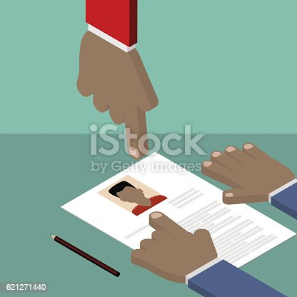 Resumecv Personnel Worker Search For Colleagues Vector Isometric ...