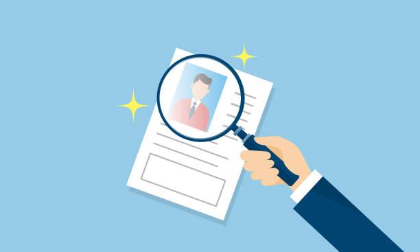 resume,image of finding employment,vector illustration recruit,business,resume,employee recruiter stock illustrations