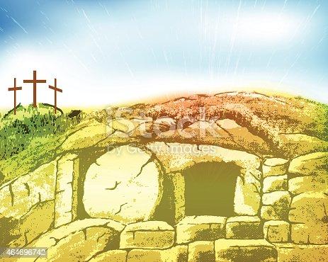 Christ's Tomb. EPS 10 file.