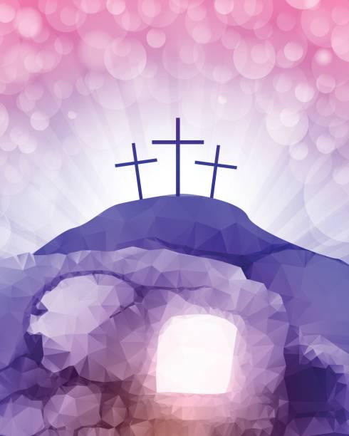 bildbanksillustrationer, clip art samt tecknat material och ikoner med uppståndelsen - grav
