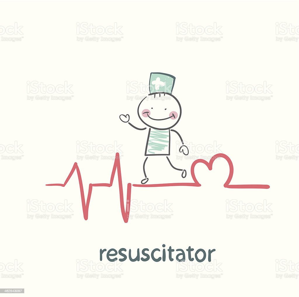 resuscitation is on the line royalty-free resuscitation is on the line stock vector art & more images of adult