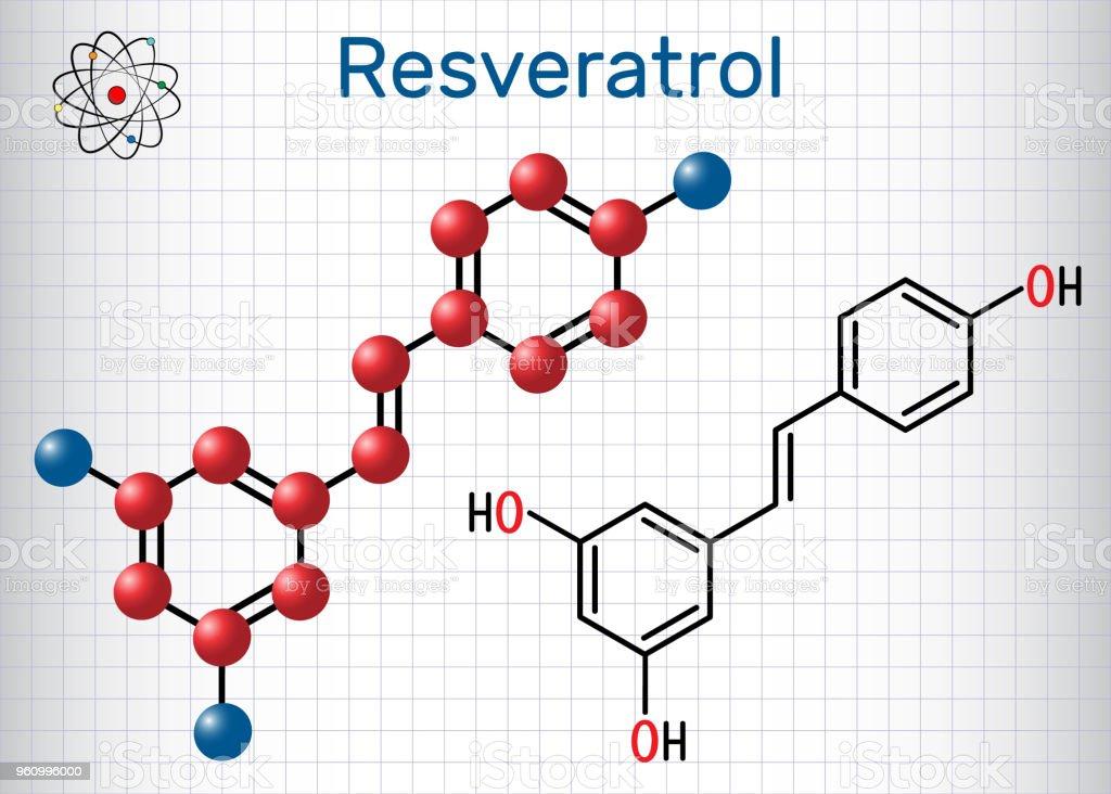 Resveratrol Molecule It Is Natural Phenol Phytoalexin Antioxidant
