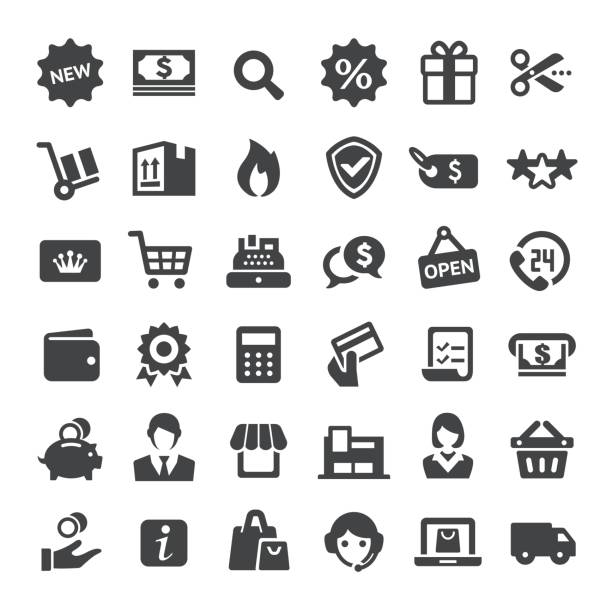 Retail and E-commerce Icons - Big Series vector art illustration