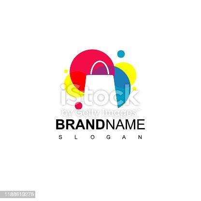 Colorful Shopping Bag Icon