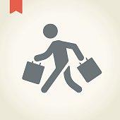 Retail customer icon,vector illustration.