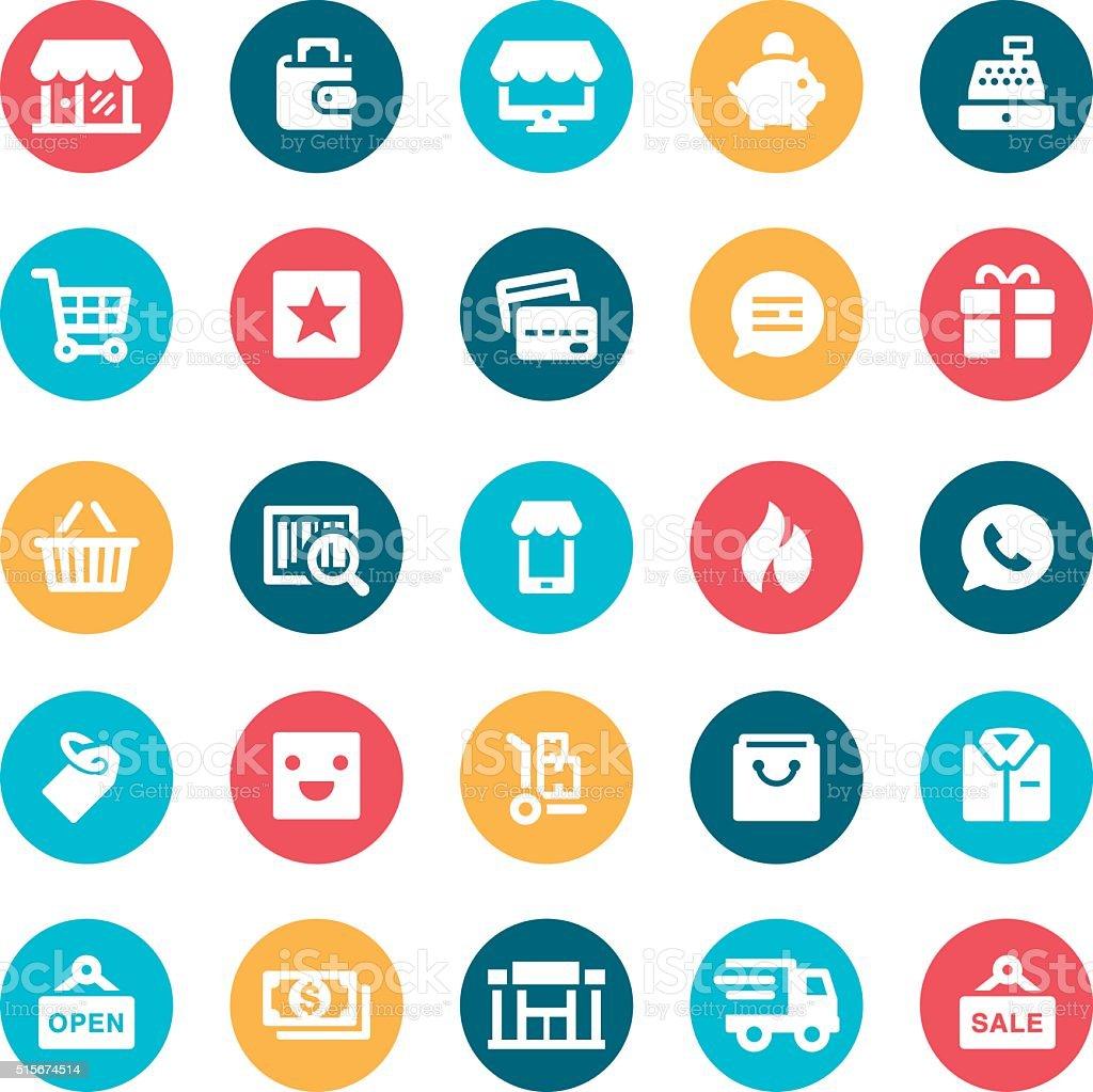 Retail Icons vector art illustration