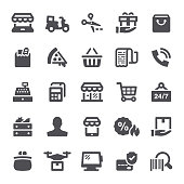 Shopping, retail, shop, e-commerce, icons, shopping bag, grocery, store, icon, wallet