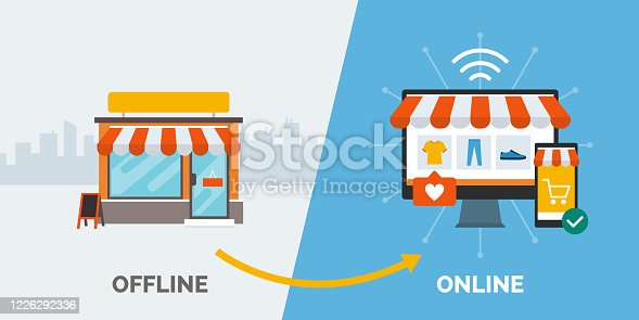 istock Retail offline to online and successfull business 1226292336