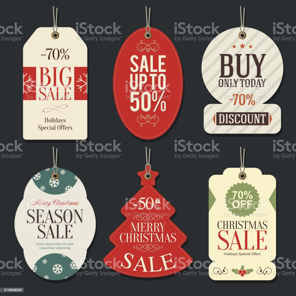 Retail Sale Tags and Clearance Tags vector art illustration