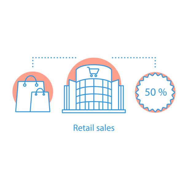 ilustrações, clipart, desenhos animados e ícones de ícone de vendas de varejo - shopping