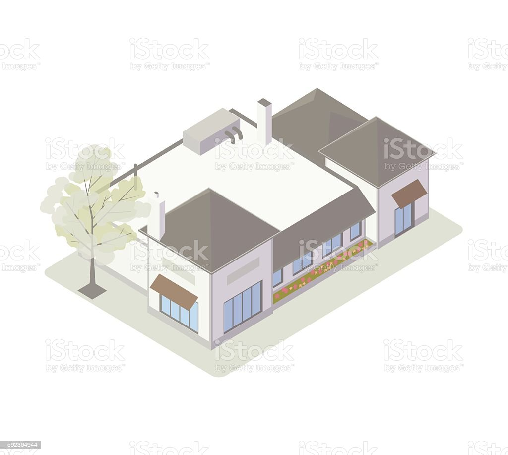 Retail shops isometric illustration vector art illustration