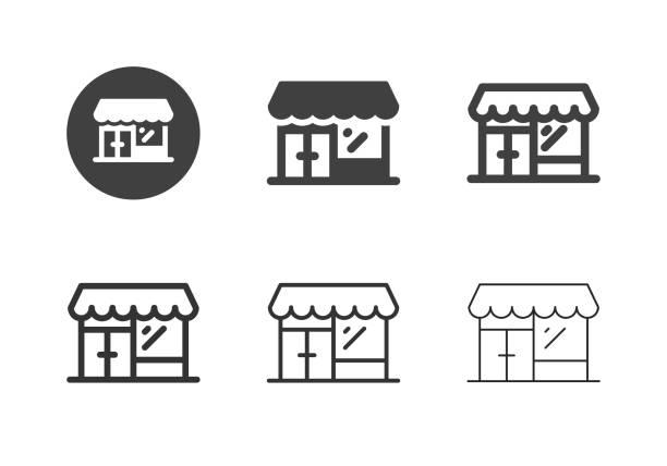 Retail Store Icons - Multi Series vector art illustration