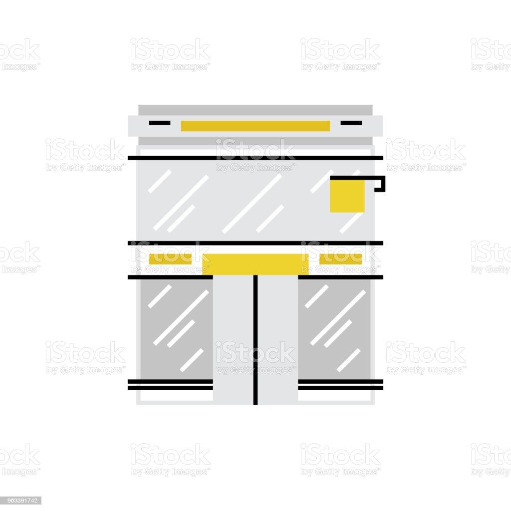 Butik Monoflat ikon - Royaltyfri Affär vektorgrafik