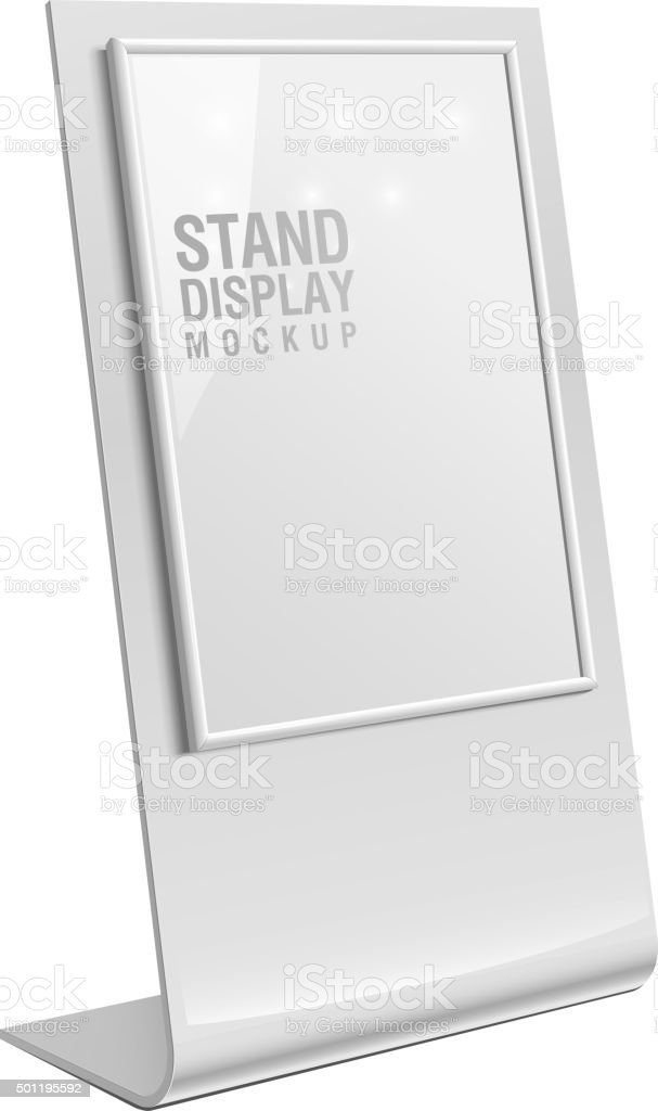 Retail Trade Stand stand banner vector art illustration