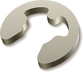 retaining snap ring circlip icon