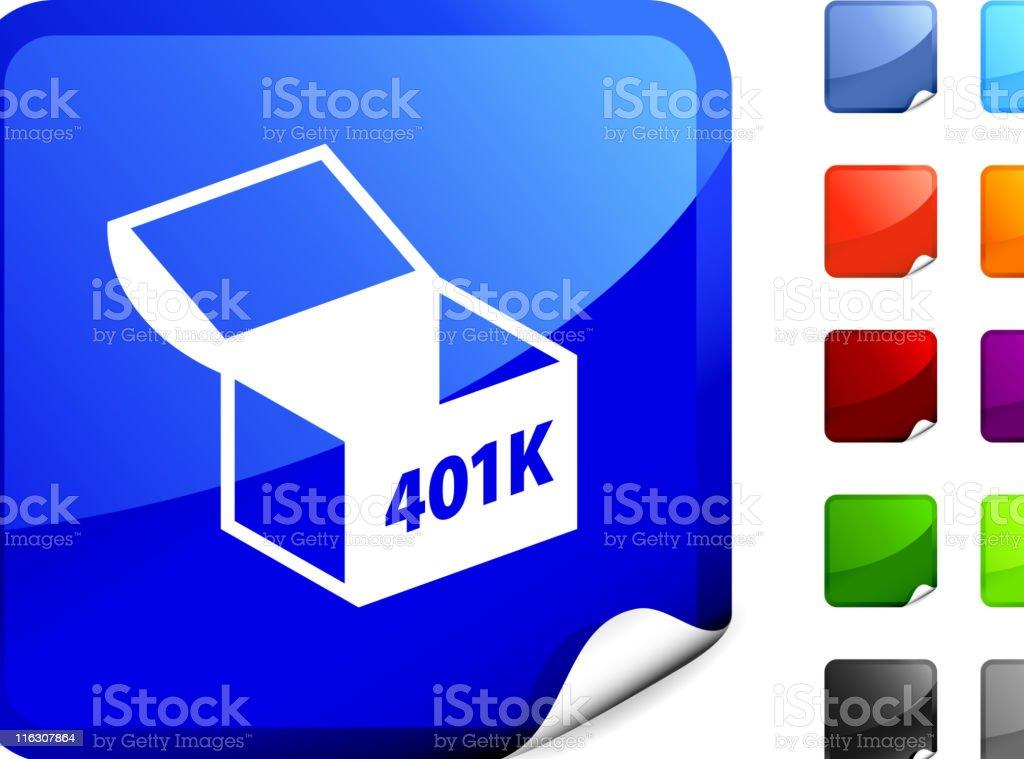 Retirement 401K internet royalty free vector art vector art illustration