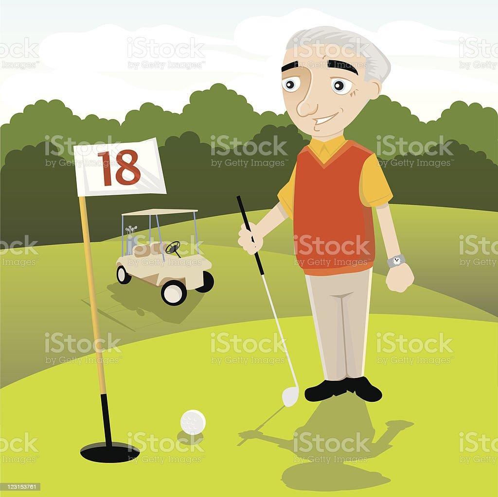Retirement Golf royalty-free stock vector art