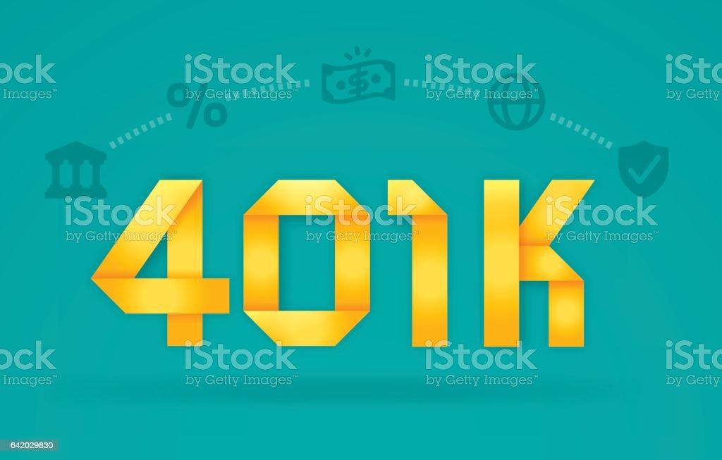 Retirement Savings 401k Investment vector art illustration