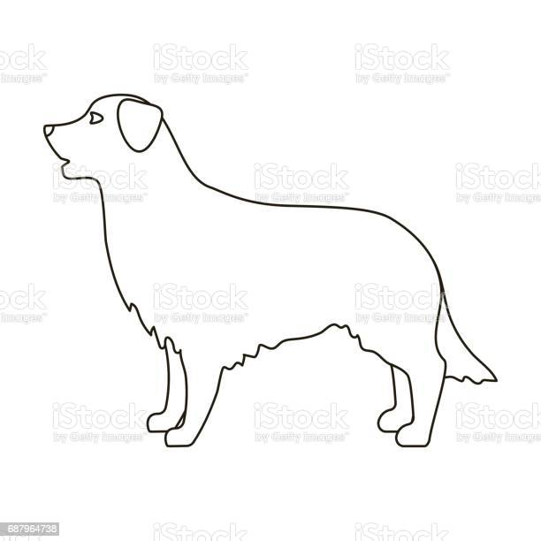 Retriever icon in outline style isolated on white background dog vector id687964738?b=1&k=6&m=687964738&s=612x612&h=rco siwelg 8jus uzx ae37brhsjjcyykp58xpm s4=