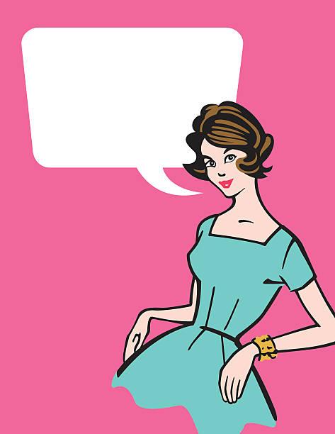retro 50er jahre hausfrau - hausfrau stock-grafiken, -clipart, -cartoons und -symbole