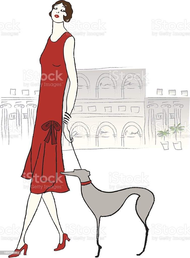Retro 20\\'s Fashion royalty-free stock vector art