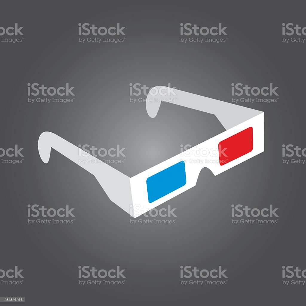 Rétro 3D lunettes, - Illustration vectorielle
