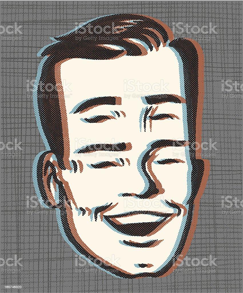 retro 4 eyes! IN 3DDDD vector art illustration