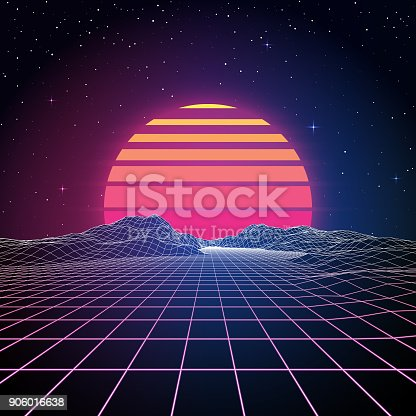 istock Retro 80s Background 906016638