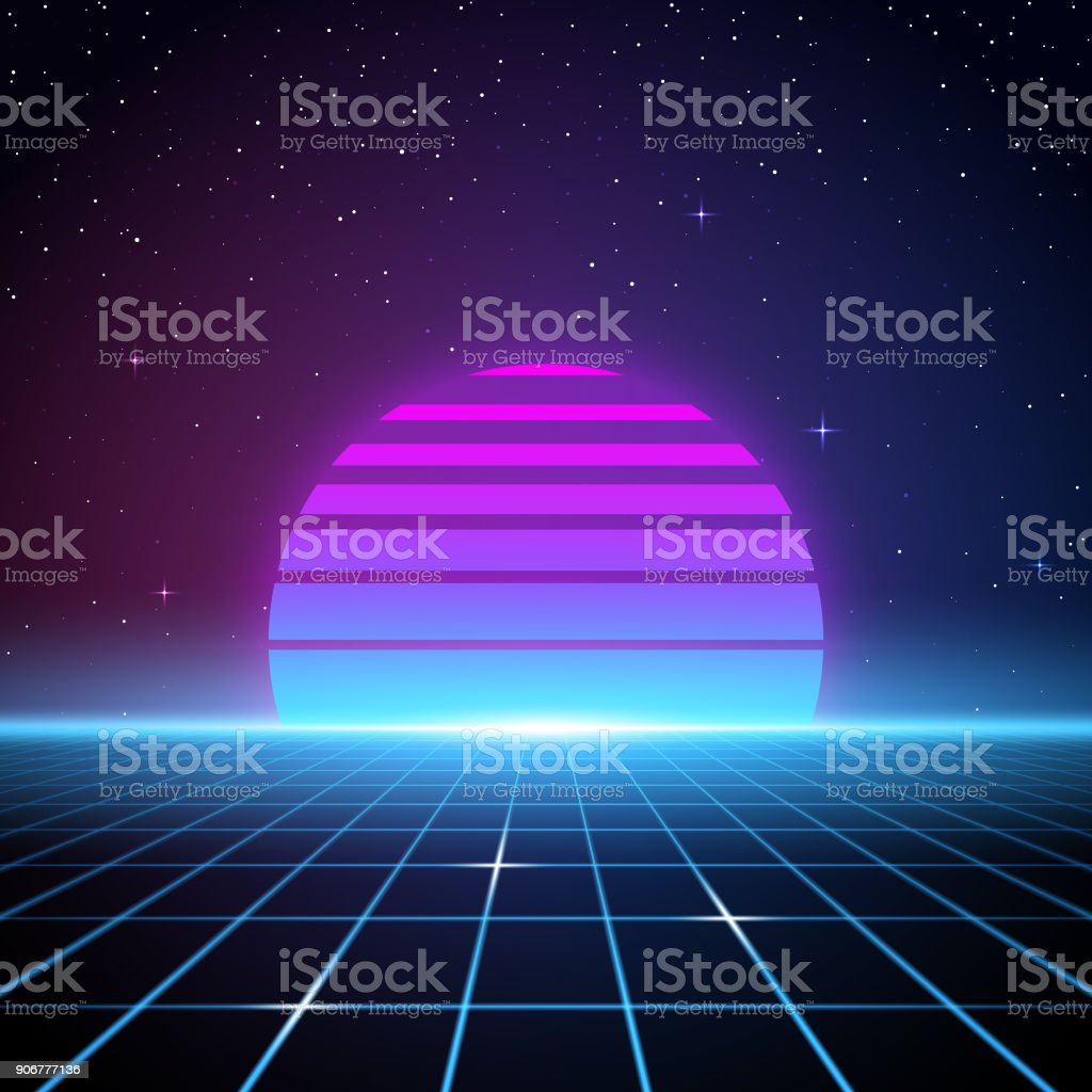 Retro 80s Background Stock Illustration - Download Image Now
