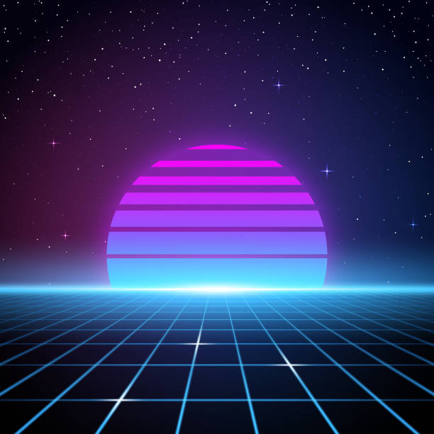 retro 80s background - retro and vintage background stock illustrations
