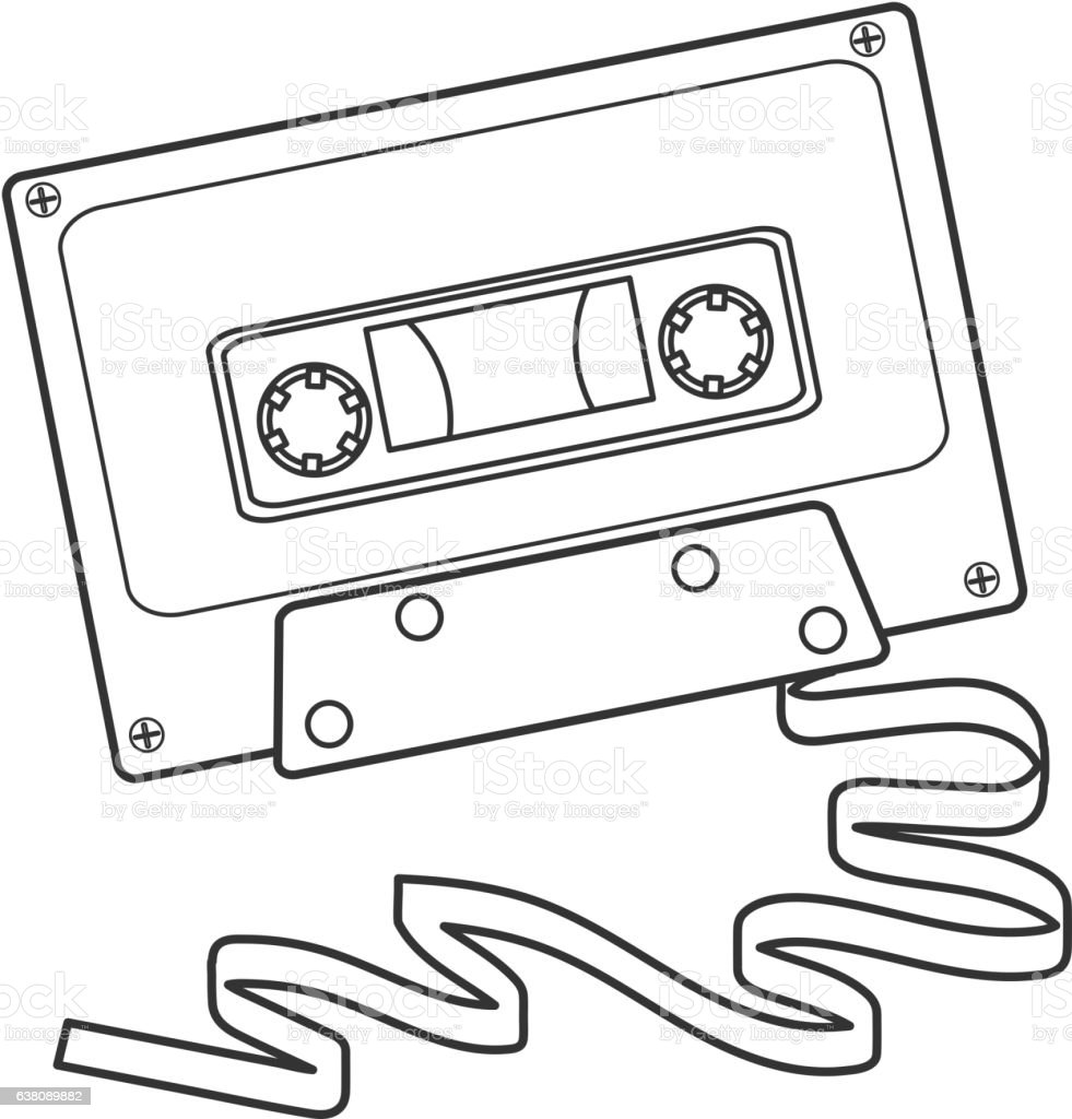 royalty free audio tape cassette clip art vector images Micro Cassette Tapes retro 80s cassette tape vector art illustration