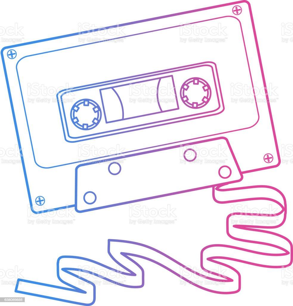 Retro 80s cassette tape royalty-free retro 80s cassette tape stock vector art & more images of 1980-1989