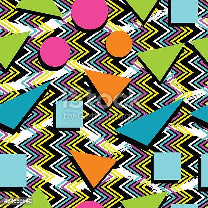 nahtlose muster hintergrund retrolook der 80er jahre stock vektor art und mehr bilder von 1980. Black Bedroom Furniture Sets. Home Design Ideas