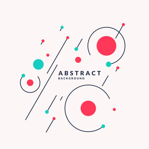 retro abstract geometric background. the poster with the flat figures - backgrounds drawings stock illustrations