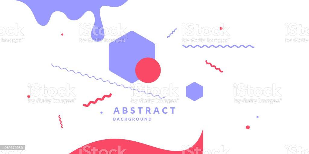 Ilustración de Fondo Geométrico Abstracto Retro El Cartel Con Las ...