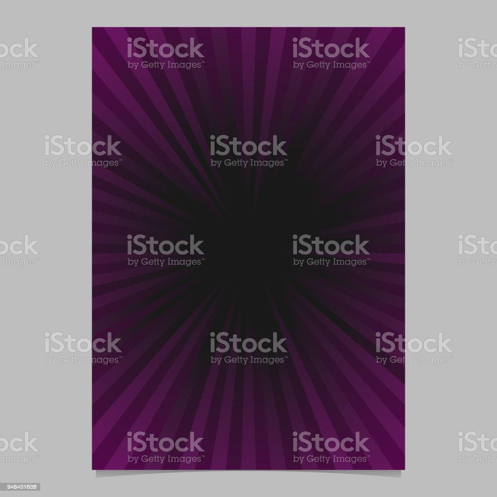 Retroabstrakte Ray Flyer Vorlage Gradient Broschüre Hintergrund ...