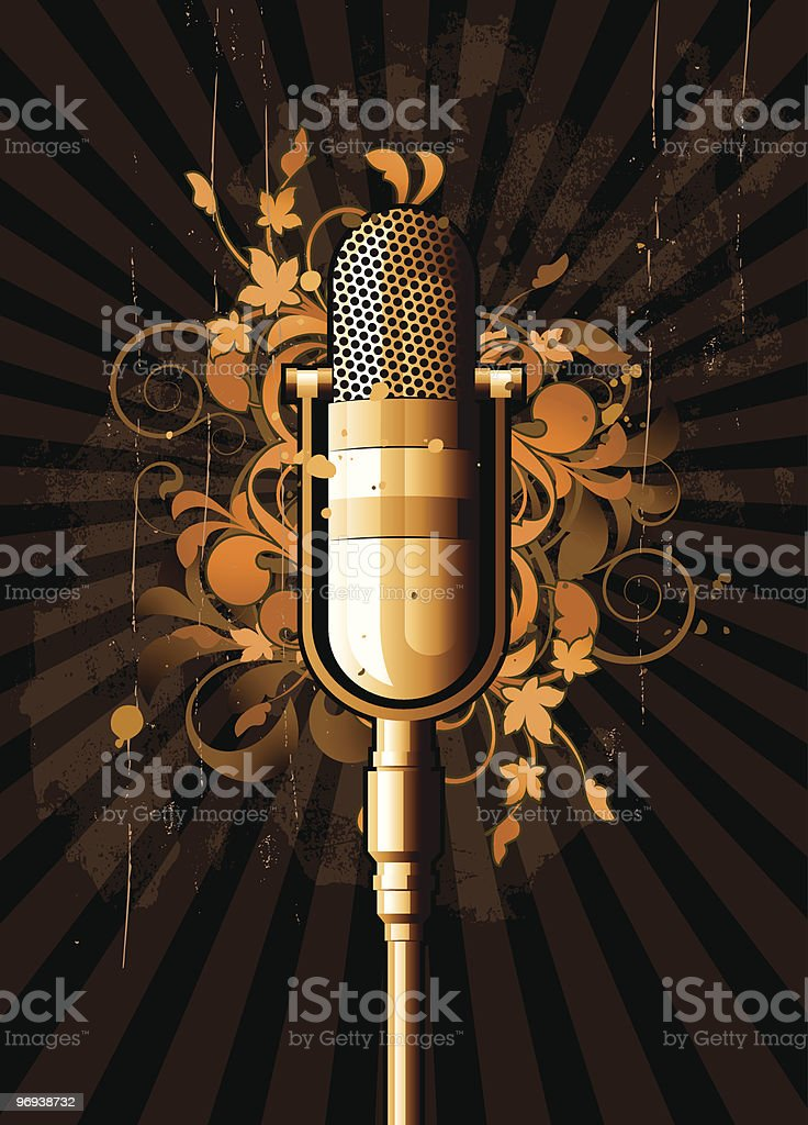 Retro abstract with microphone royalty-free retro abstract with microphone stock vector art & more images of abstract