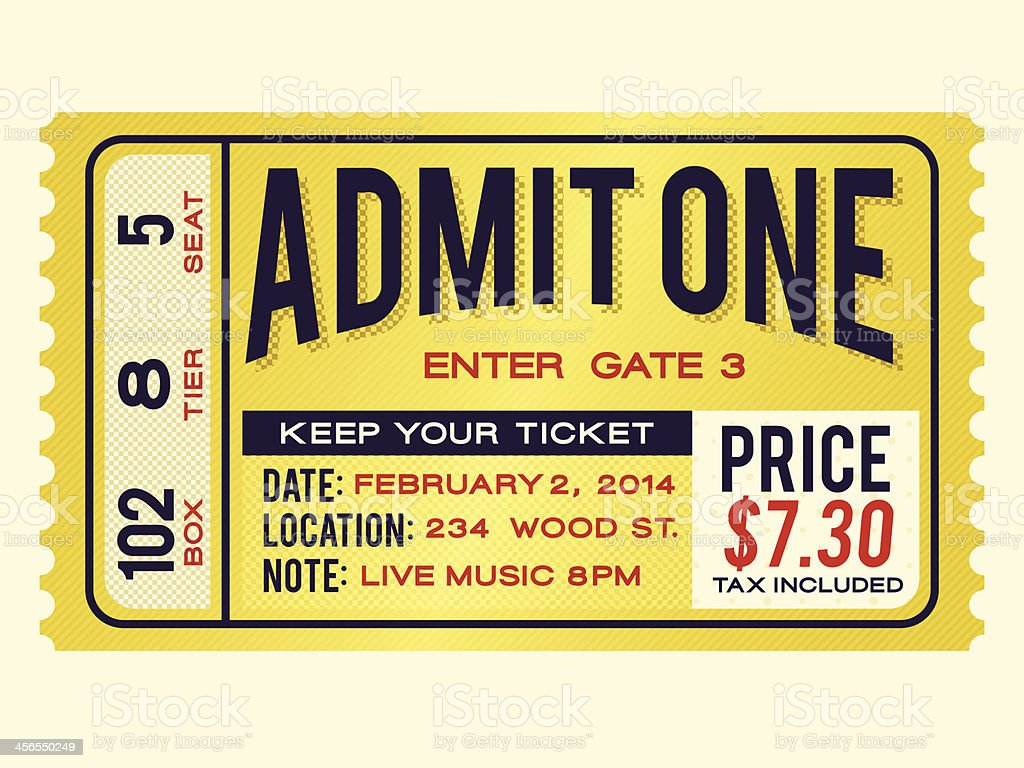 Retro Admission Ticket