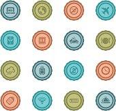 Retro Air Travel Badges