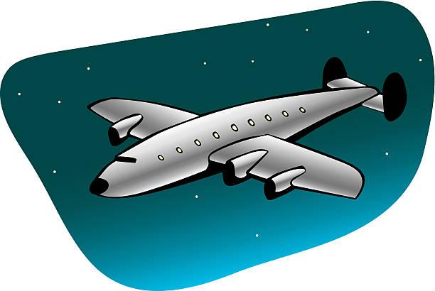 Retro-Verkehrsflugzeug – Vektorgrafik