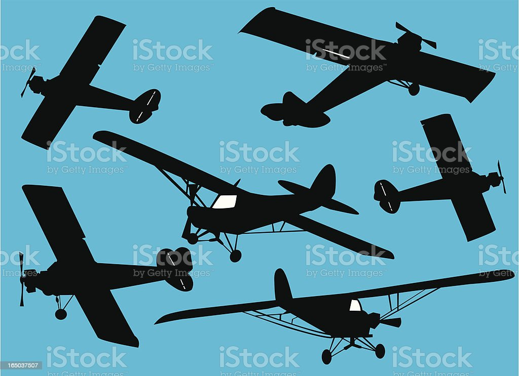 Retro Airplanes  ( Vector ) royalty-free retro airplanes stock vector art & more images of adventure