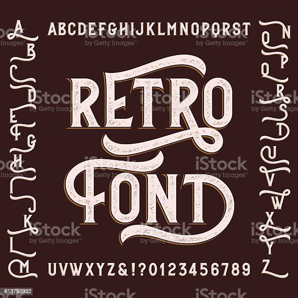 Retro alphabet font with alternates vector id613793932?b=1&k=6&m=613793932&s=612x612&h=stne232qmpph r qfw wabhfg82x1jispykh2mimk4w=