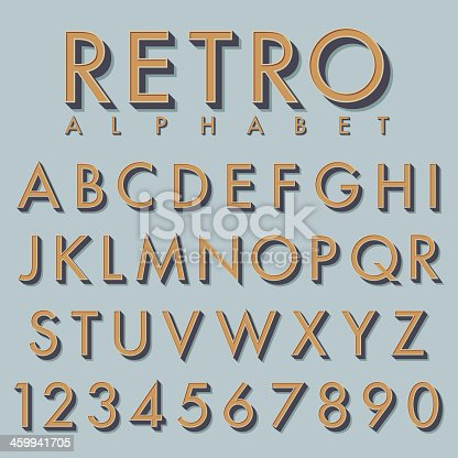 vector retro alphabet