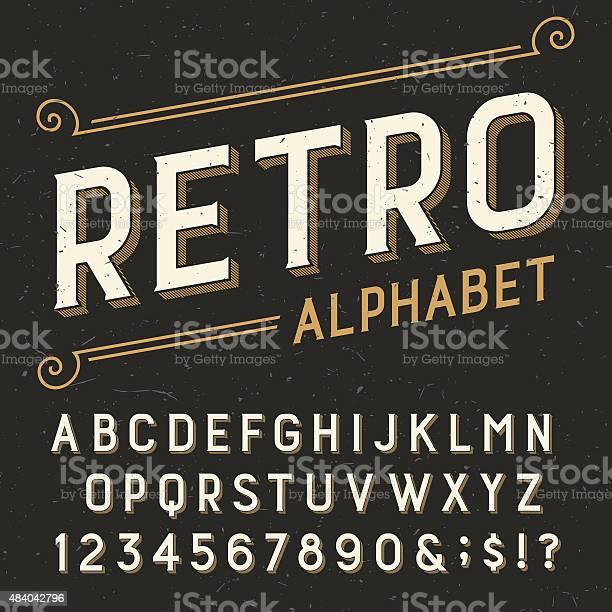 Retro alphabet vector font vector id484042796?b=1&k=6&m=484042796&s=612x612&h=s5sxhzvxk 4am8log0rcyhjtupp6vnttivoslrb94mc=