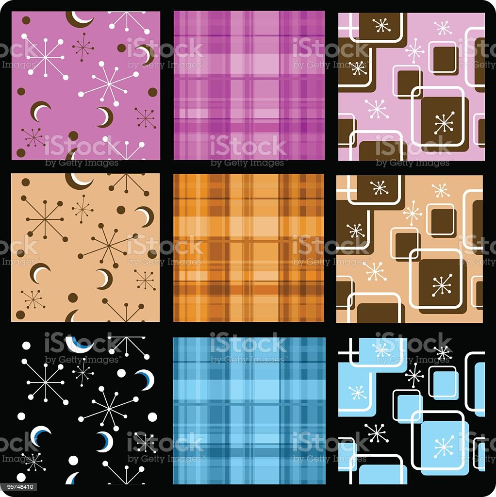 Retro and madras plaid seamless tile backgrounds royalty-free retro and madras plaid seamless tile backgrounds stock vector art & more images of 1960-1969